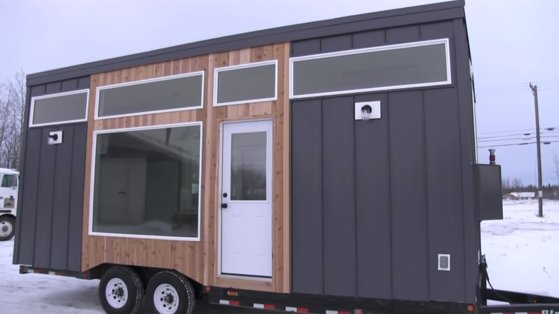 Ana white 39 s open concept modern tiny house with elevator bed - The modern tiny house ...