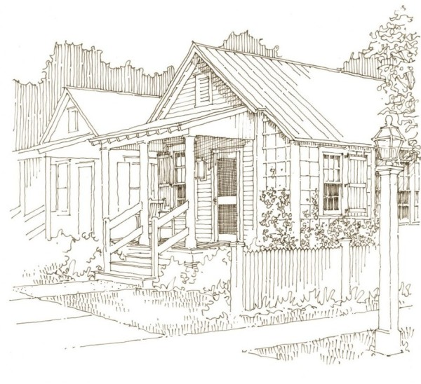 sketch of small house