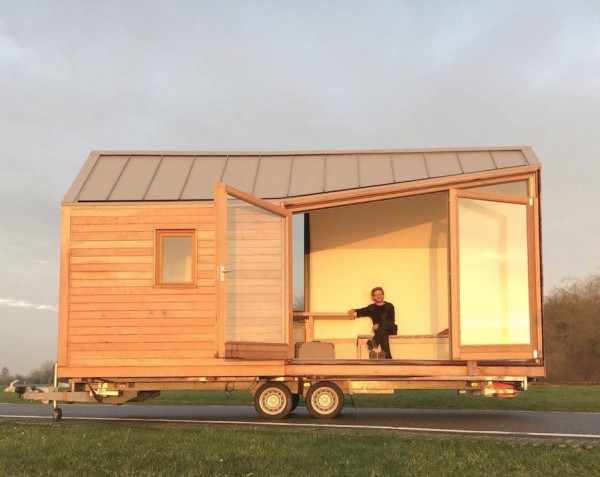 Modern Tiny House On Wheels porta palace modern tiny house on wheels
