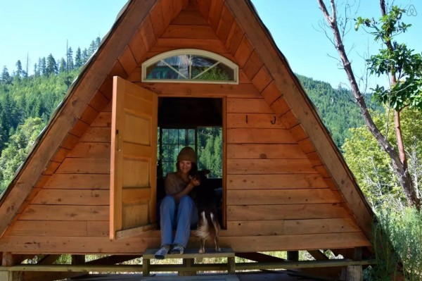 Rustic Off-Grid A-frame Vacation 008