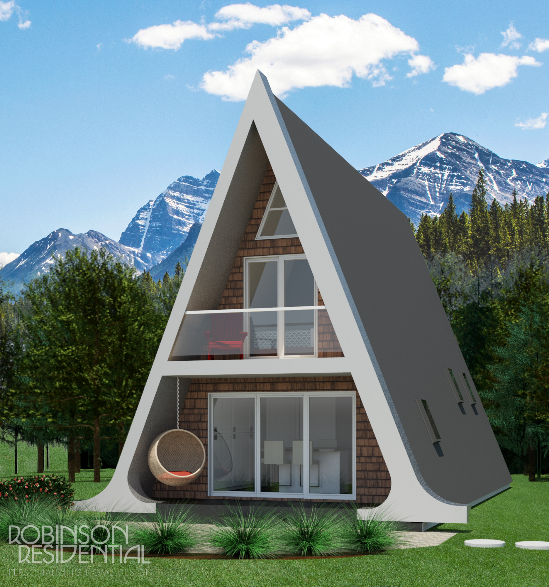 Home Design Ideas For Small Houses: Alberta A-Frame Small Home Design