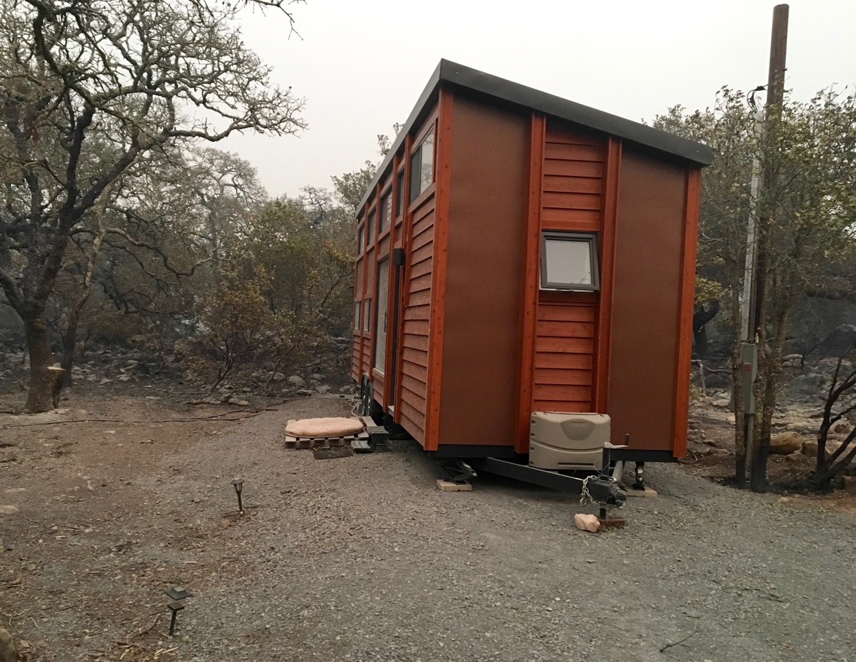the tiny house that survived the santa rosa fire and