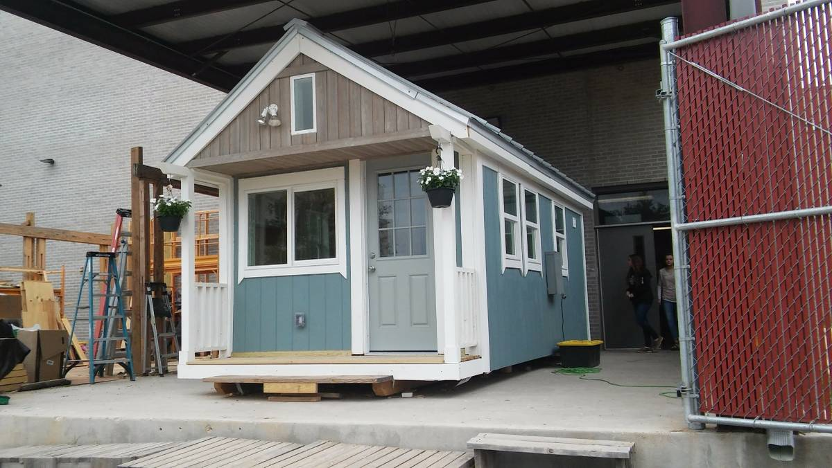 Student built tiny house for sale for Small new build homes