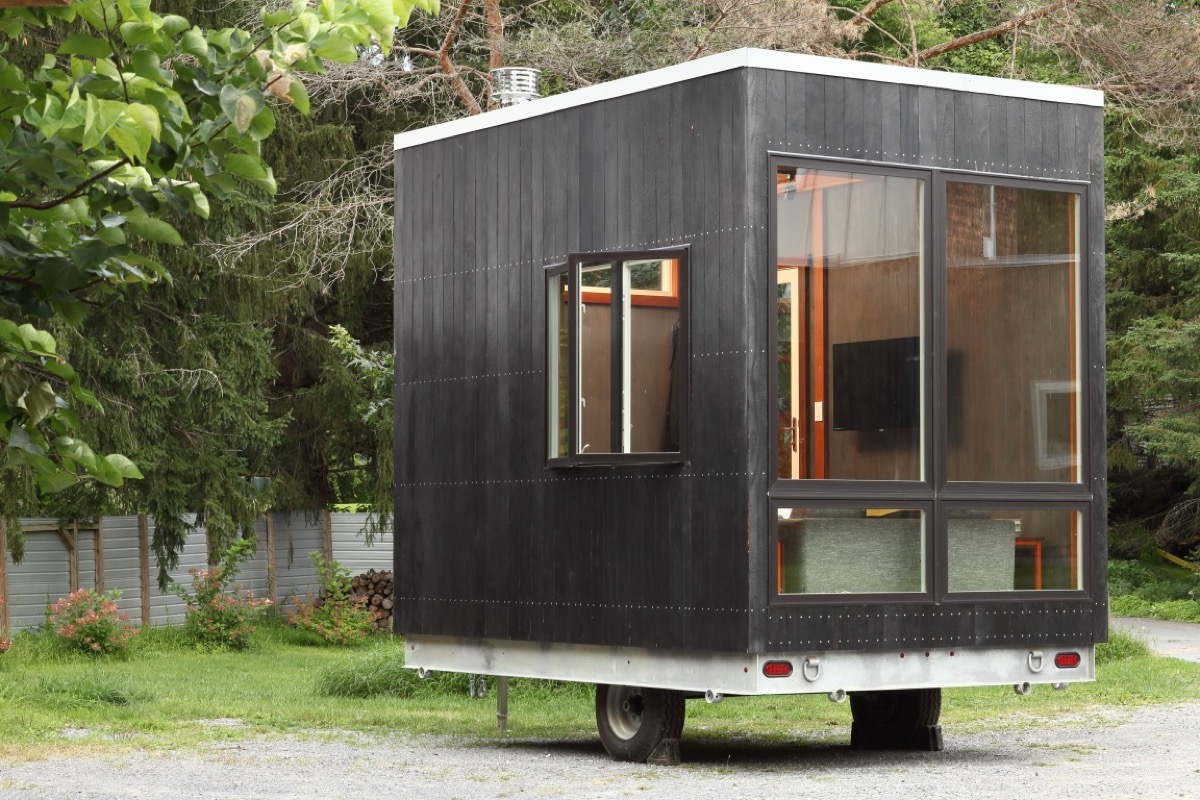 The 12ft Adirondack Tiny House With 'Secret Bed' Built
