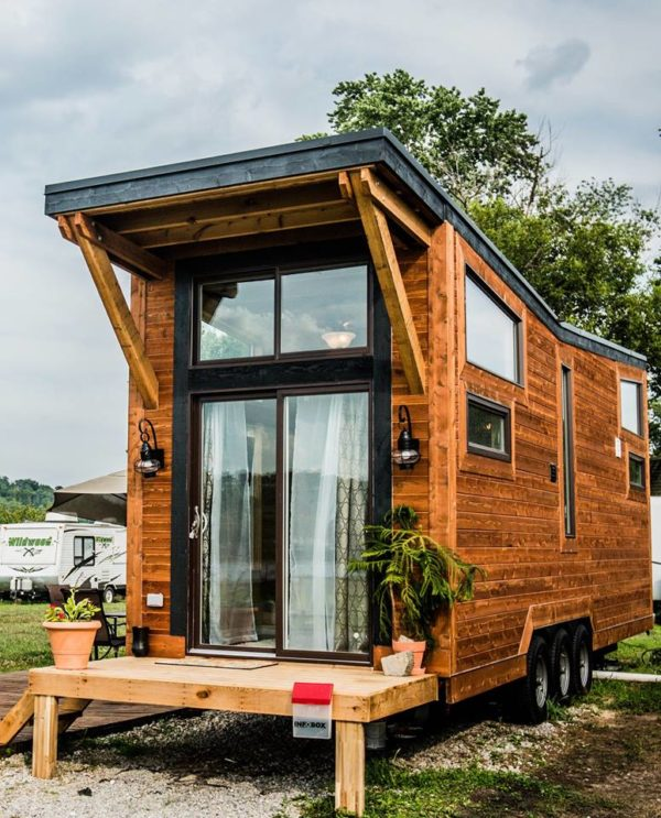 The industrial wheel life tiny house vacation in ky for Kentucky home builders