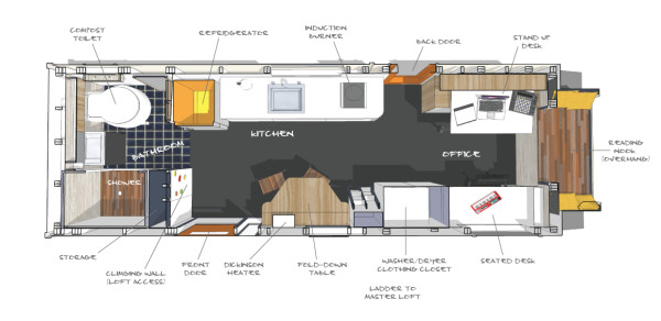 Tiny Home Design Plans: 200 Sq. Ft. Tiny Giant House For Sale