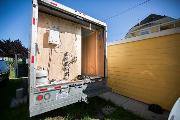 Urban Stealth Uhaul Conversion: Box Truck Tiny House For Sale!