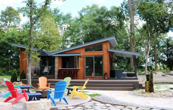 the valley forge park model tiny house by utopian villas