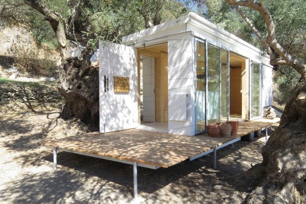 Tiny Modern House On Wheels teacher's modern, off-grid crete tiny house on wheels