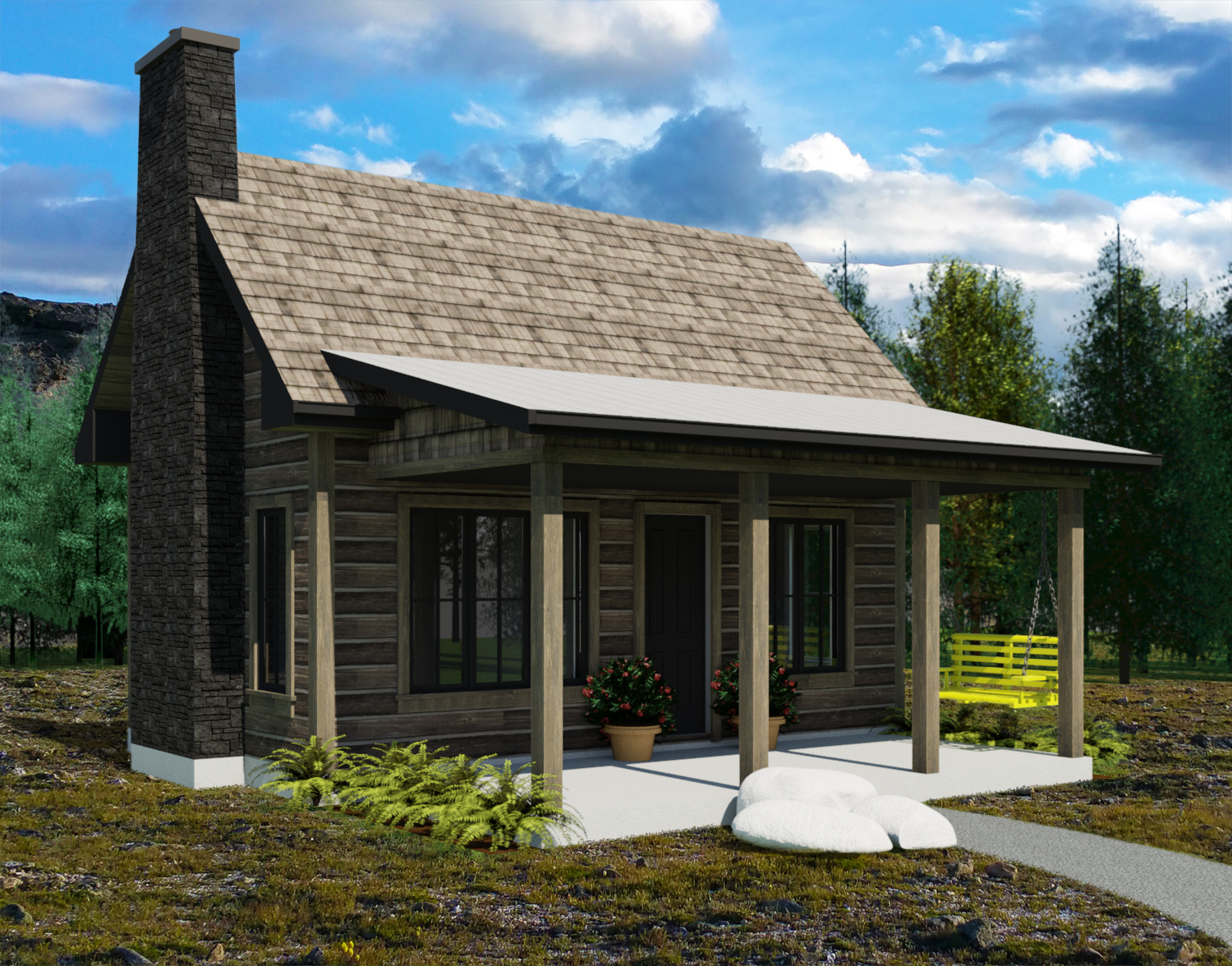 The yukon tiny house plans by robinson residential for Small residential building plan