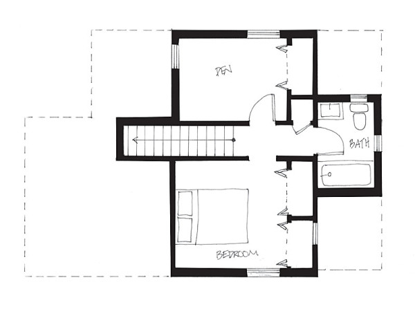 Cabin floor plans under 1000 square feet loft mud room for 1000 sq ft apartment plans