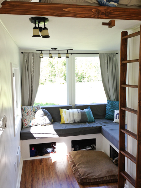 Glamping tiny house interior would you live here for Small house interior