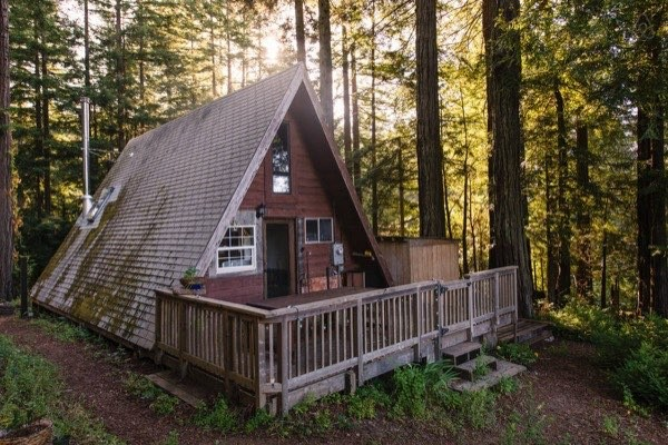 Amazing Tiny A Frame Cabin In The Redwoods
