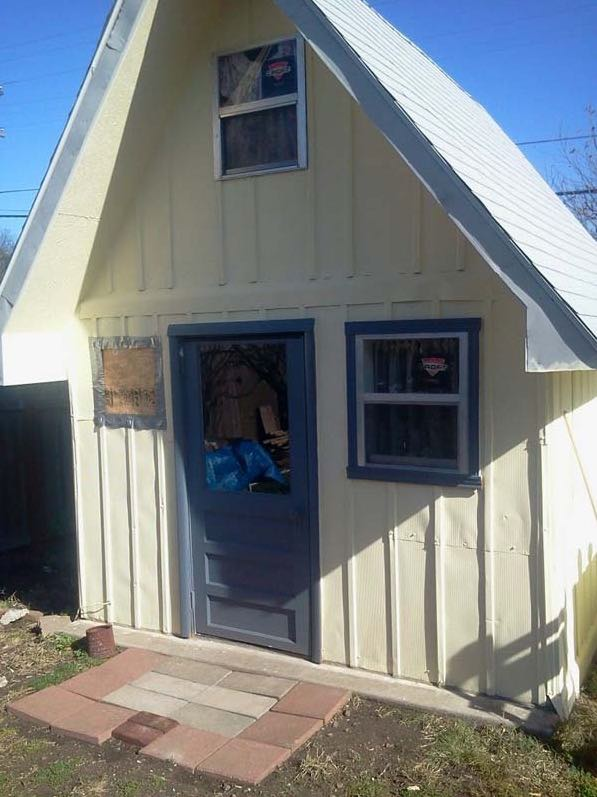 Grandma Turns Backyard Shed into Tiny Home