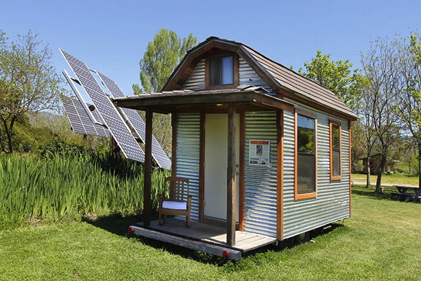 Solar powered barn style tumbleweed epu tiny house on wheels Small barn style homes