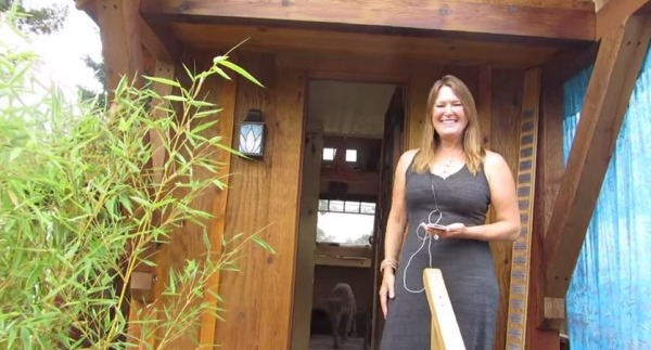 Tiny house talk woman builds 112 sq ft gifford tiny Four lights tiny house plans