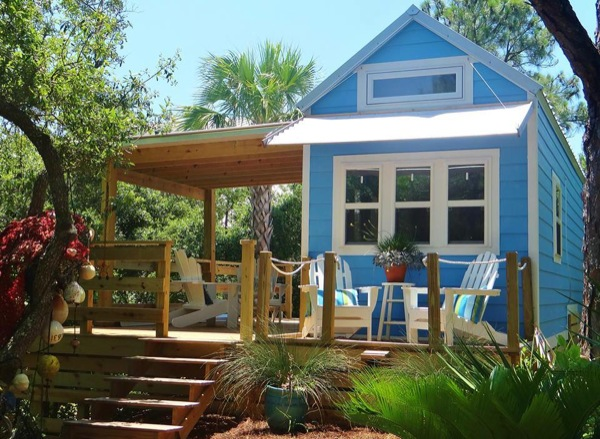 Tiny beach cottage with two lofts for Build your own beach house