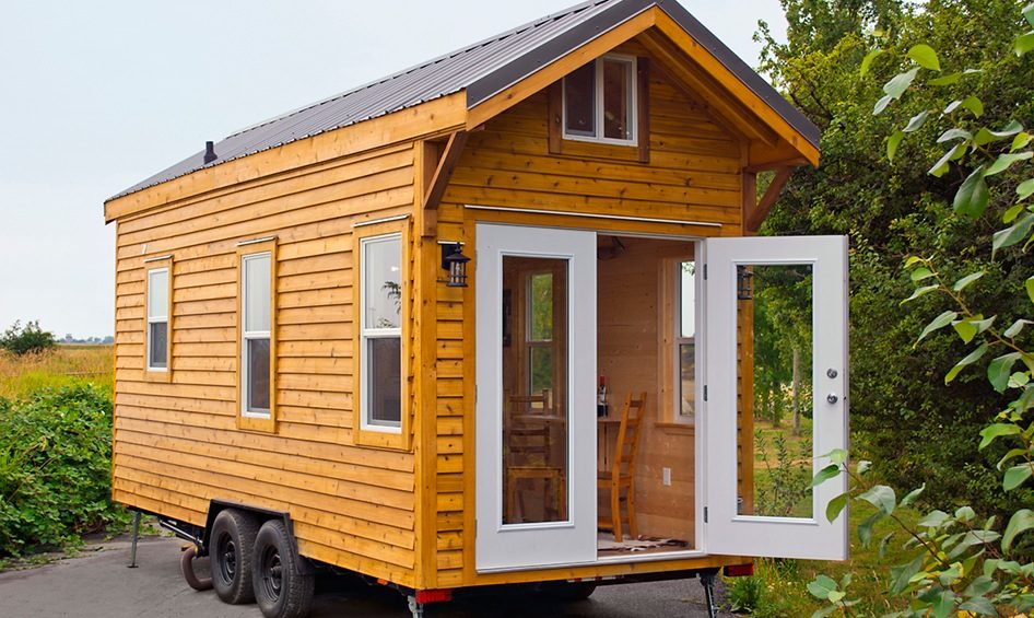 Cabin in the woods edition tiny house by tiny living homes for Small livable cabins