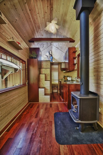 candices tiny house by tack 2 398x600   Yans Tiny Tack House based on Tumbleweed Fencl: Open House