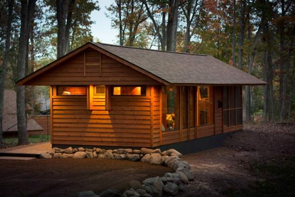 392 sq ft escape cabin - Design homes wi ...
