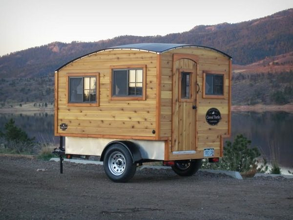 Man Builds 11800 Lightweight Mobile Micro Camper Cabin For Sale