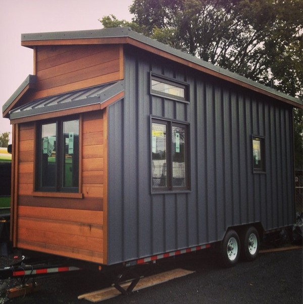 The 224 sq ft cider box tiny house by shelterwise for Small house design inside and outside