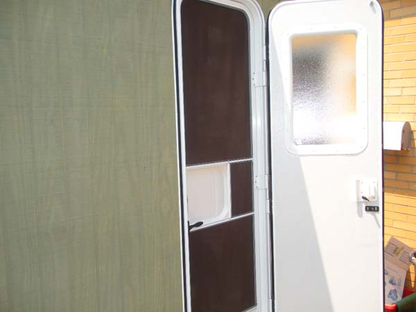 custom mini camper rv door   Custom Mini Camper