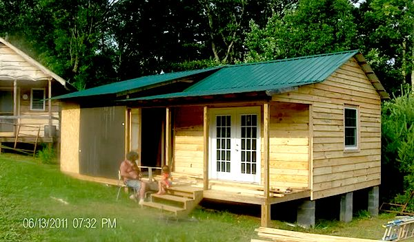 deputy genes small cabin coming together   How to Build a Mortgage free Small House for $5,900