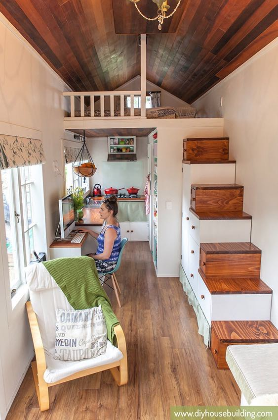 young familys diy tiny house on wheels - Tiny House On Wheels Plans