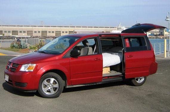 Mini Van Motor Home : Dodge grand caravan minivan camper