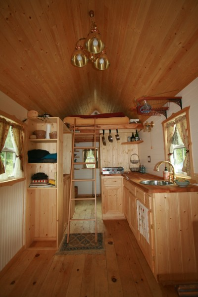 Ella shows you her tumbleweed tiny house pictures and video tour - Tumbleweed tiny house interior ...