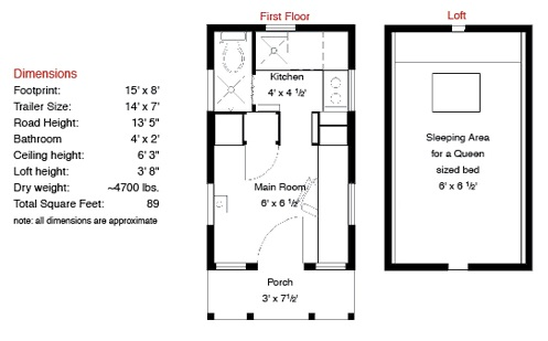 epu tiny house floor plan - Micro House Plans
