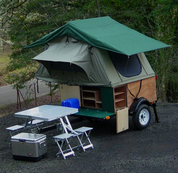 explorer box mobile diy tent camper easy set up 01   DIY Tent Campers You Can Build on a Tiny Trailer