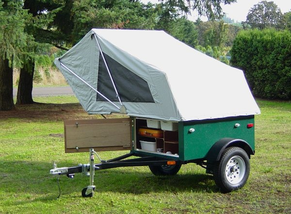 explorer box mobile diy tent camper easy set up 02   DIY Tent Campers You Can Build on a Tiny Trailer