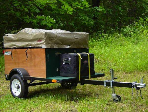 Explorer Box Mobile DIY Tent Camper with Easy Set Up Kind of like a Teardrop Trailer