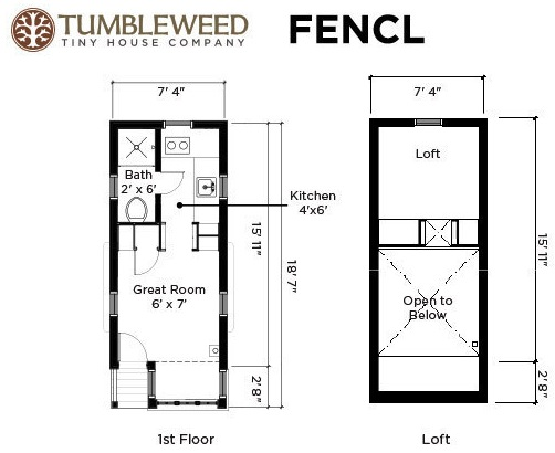 Grad student 39 s tiny house tour and interview on living tiny Small house floor plans free