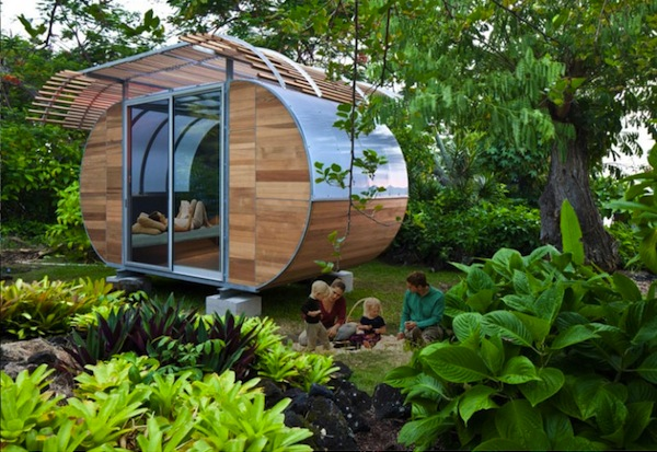 Modern Flat-pack Tiny Backyard Home or Fancy Emergency Shelter