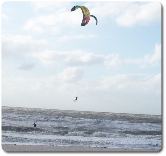 Flying with a kiteboard