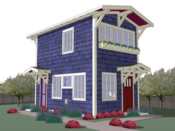 440 sq ft tiny backyard cottage plans for 2 story tiny house plans