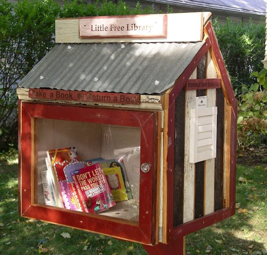 free tiny house library 03   Tiny House Libraries Are Real in Wisconsin