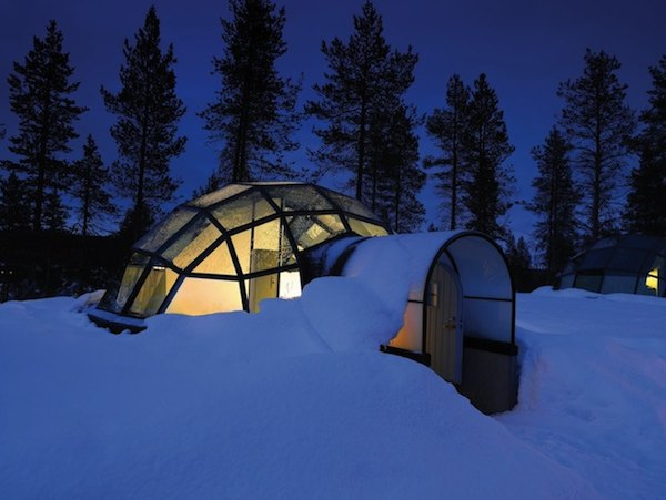 glass igloo tiny house hotel 01   20 Glass Igloo Tiny Houses Make Village for Northern Lights