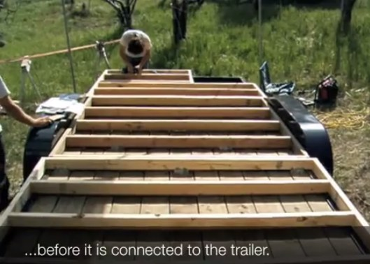 How to Floor and Frame a Tumbleweed Tiny House on a Trailer video