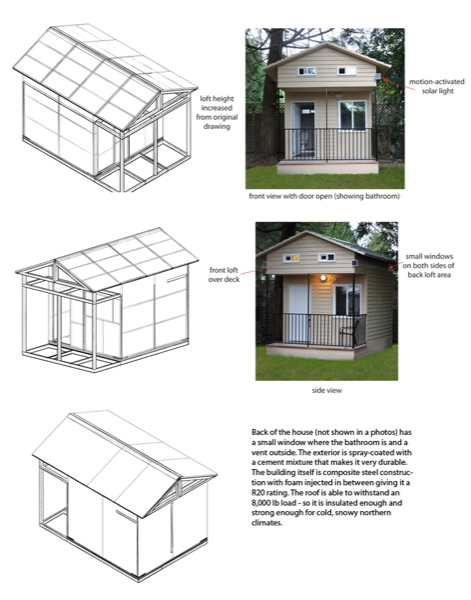100 Sq Ft Hummingbird Tiny House With Loft