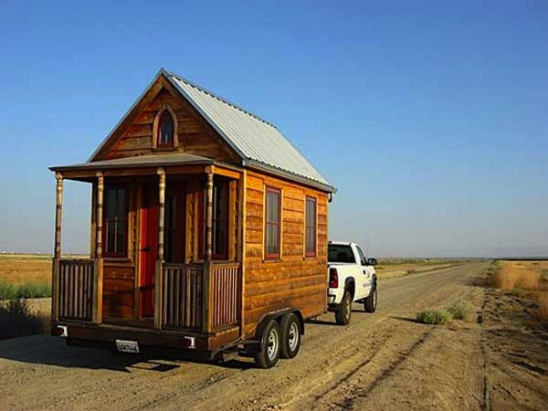 jay shafer with his tumbleweed epu tiny house