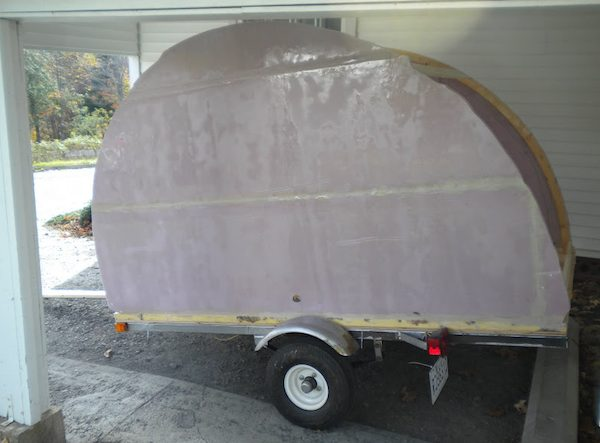 Jean-Rene's micro camper teardrop trailer project and how to build your own