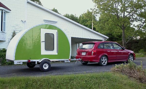 micro camper teardrop trailer project and how to build your own