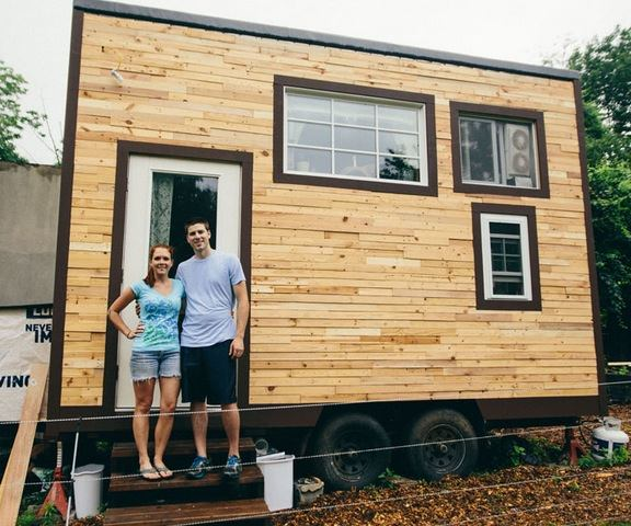 Tiny Living: Couple Build Mortgage-free 129 Sq. Ft. Tiny Home