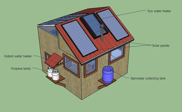 10k diy off grid solar tiny house Off grid house plans
