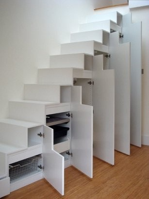 Staircase Storage Solutions for Small Spaces