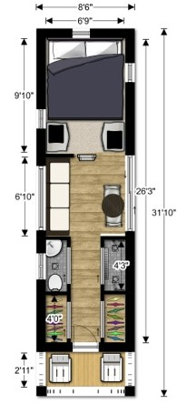 lovebug2 tiny house couples floor plan Tiny House Design